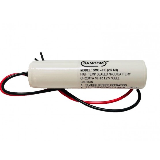 NICKEL CADMIUM BATTERY 2.4V 2.5AH - L2C