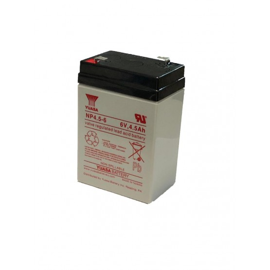 SEALED LEAD ACID BATTERY 6V 4.5AH - YUASA